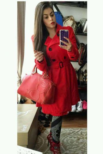 Abrigo Rojo Aviva