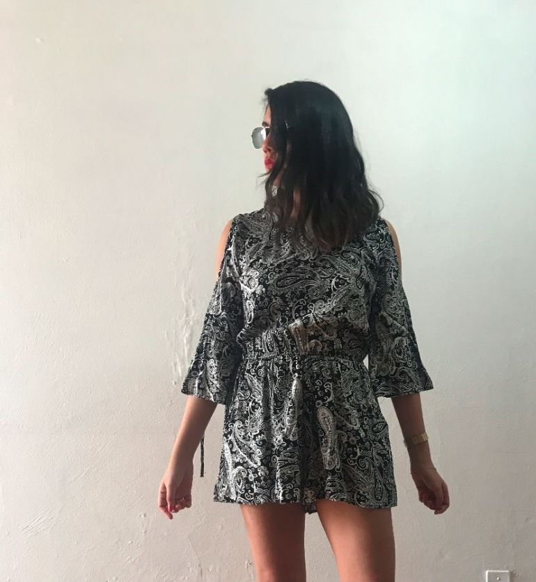 Playsuit con print