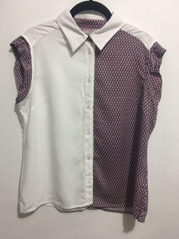 Camisa combinada con cuadros