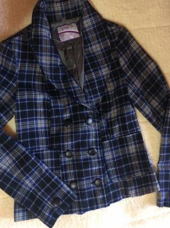 Abrigo/Blazer tartan gris
