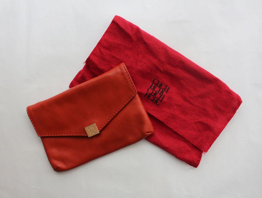 bolso naranja con correa pequeño