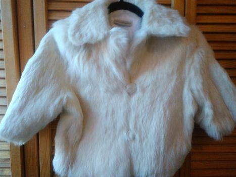 Abrigo piel conejo