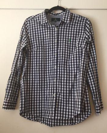 Camisa cuadros azul y blanco  Polo Club XL