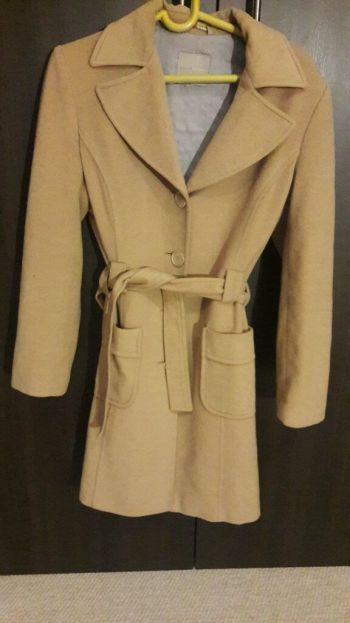 Abrigo beige largo