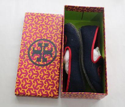 zapatos azules TORY BURCH