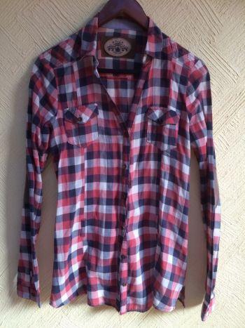 Camisa de cuadros con coderas de gamuza