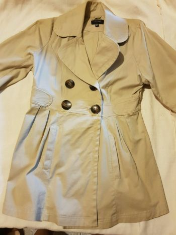 Abrigo manga 3/4 beige