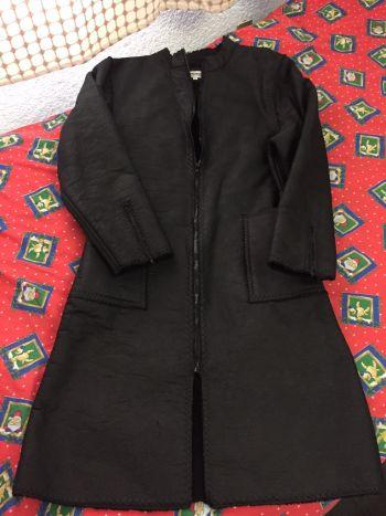 Abrigo extra largo negro