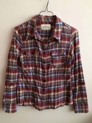 Camisa de franela delgada ✅