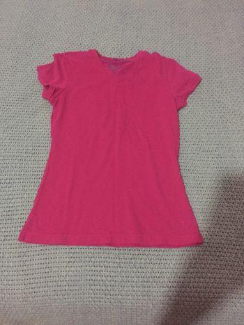 Camisa  de cuello v rosa
