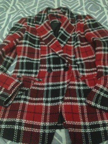 Abrigo Rojo Nuevo Sin Etiqueta