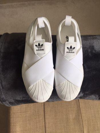 Adidas blancos slip on