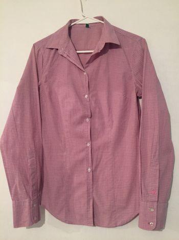 Camisa cuadritos lila