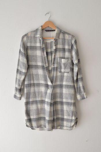 Camisa cuadros lana