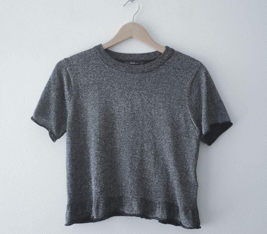 Top jersey gris