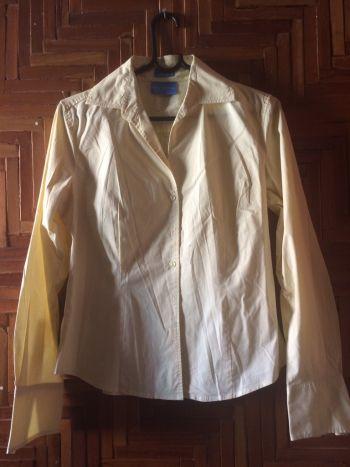 Camisa dama color amarillo claro