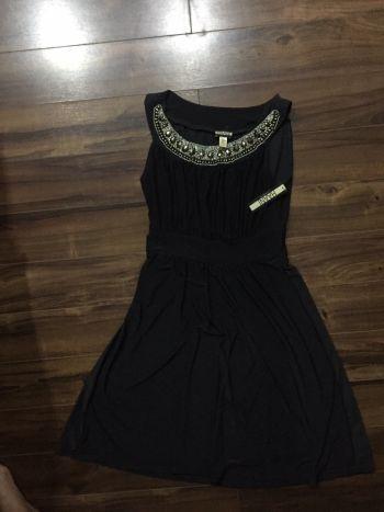 Vestido fiesta negro nuevo con etiqueta
