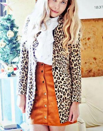 abrigo leopardo café