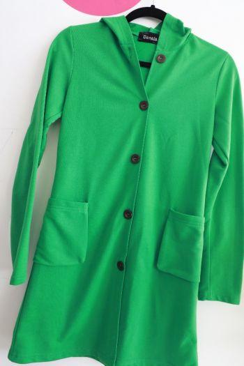 Abrigo Juvenil Verde para Dama
