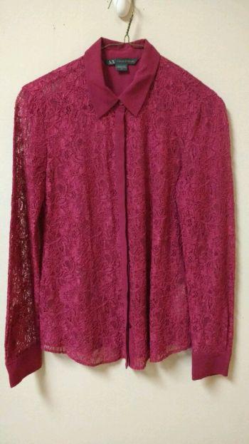Camisa de encaje Armani Exchange
