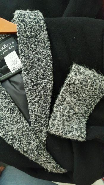 Abrigo negro talla G