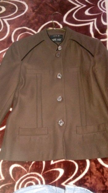 Abrigo de lana y poliéster