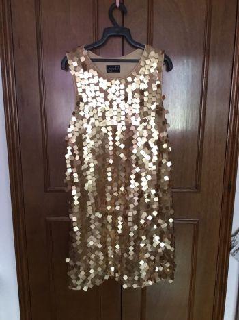 Vestido fiesta dorado