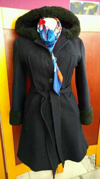 abrigo de lana invernal