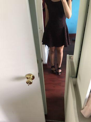 Vestido brocado F21