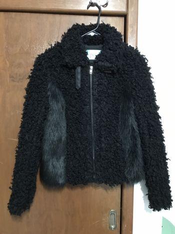 Abrigo tipo borrego y pelo