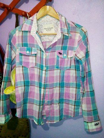 camisa cuadrada abercrombie