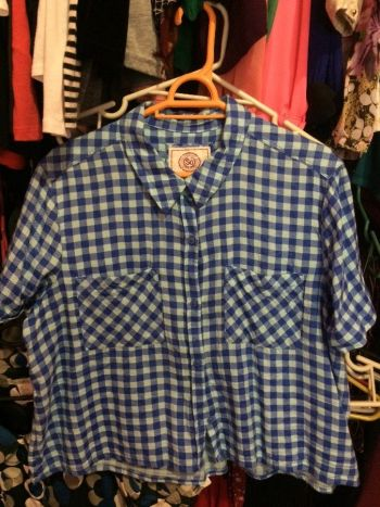 Camisa corta azul