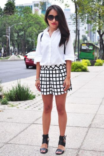 Shorts cuadros Forever 21
