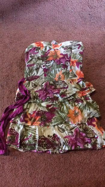 Vestido Floral Corto BSK