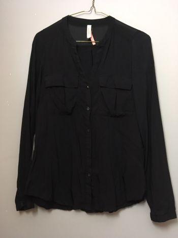 Camisa de gasa negra