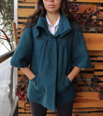 abrigo azul forever21