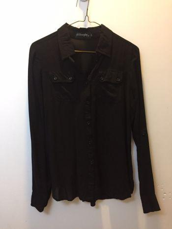 Camisa de Algodón Negra Philosophy