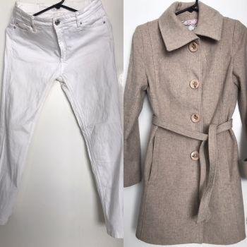 Abrigo de lana y jeans stradivarius
