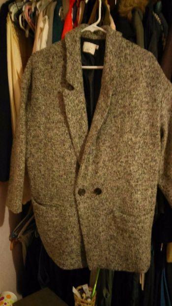 Abrigo de lana con textura