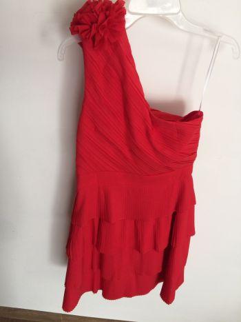 Vestido fiesta rojo corto