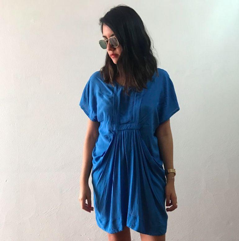 vestido ligero en color azul