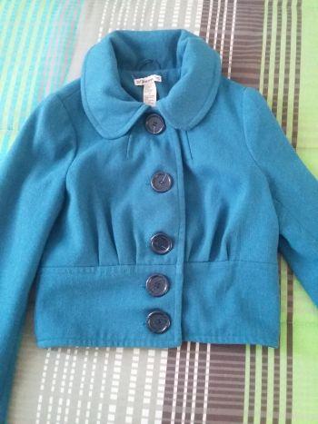 Abrigo azul turquesa