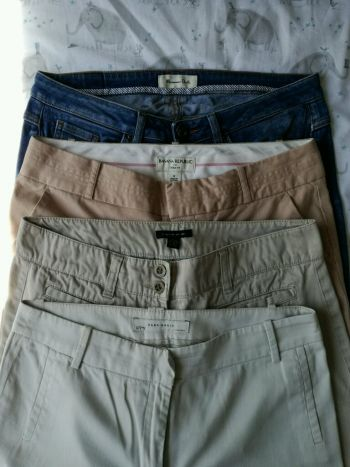 4 pack pantalones Massimo,Banana,Tommy y Zara