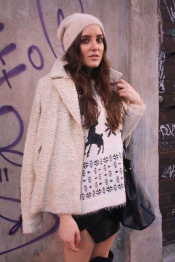 suéter navidad con renos