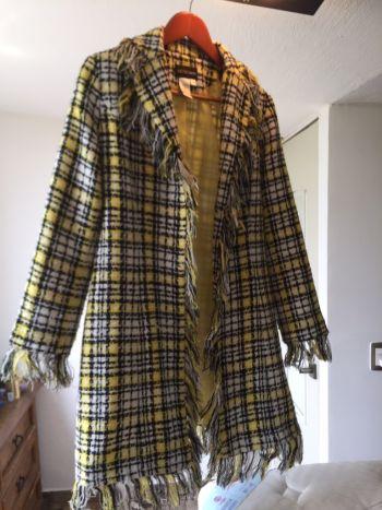 Abrigo super fashion de cuadros