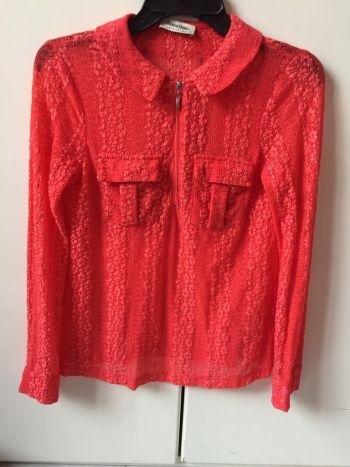 Camisa coral encaje