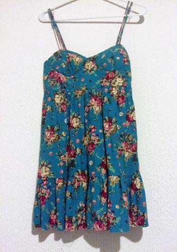 Vestido Floral (Color Azul Turquesa)