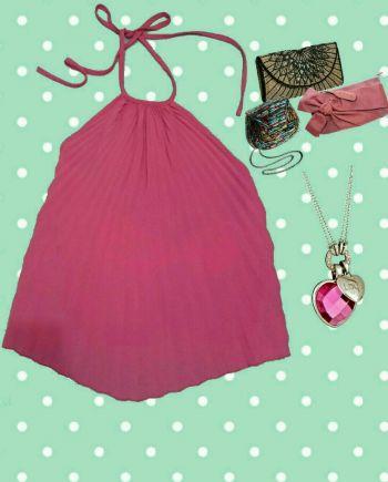 2x1 Blusa rosa escote en espalda