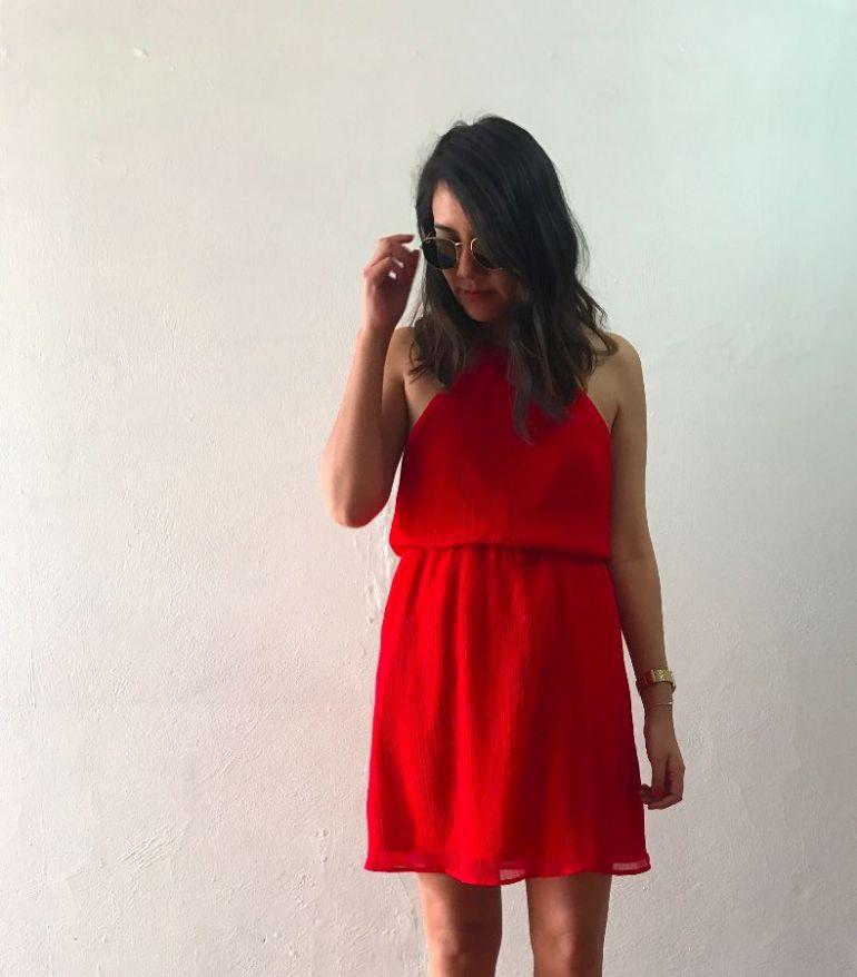 Vestido rojo ligero