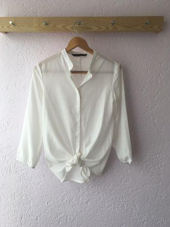 Camisa de amarre zara